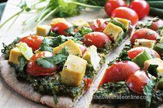 Our favorite kind of alliteration: Palak Paneer Pita Pizza. pita pizza, paneer pita