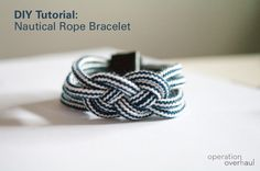 diy nautical rope bracelets