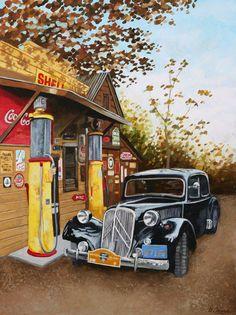 Vintage Gas Station