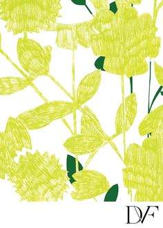 DVF | Sketch Garden Lime Print, Spring 2012: Beginnings