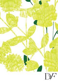 DVF | Sketch Garden Lime Print, Spring 2012: Beginnings