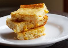 "Make-Over Corn Casserole | ""Skinnytaste"" made this timeless favorite into a yummy option for those needing to lower saturated fat and cholesterol in their diet.  For the lowest saturated fat, substitute tub margarine, either regular tub or lite tub as ""lite butter"" still contributes some saturates. sour cream, side dishes, casserolehot dish, bread, cooking spray, corn casserol, recip, sweet corn, thanksgiving sides"