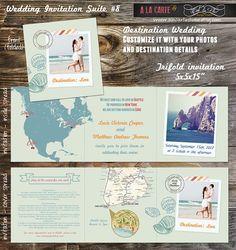 25 Beach Destination Wedding Save the Date Cards by alacartestudio, $150.00