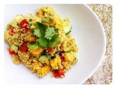 Tropical Quinoa Salad #vegan #quinoa #saladideas