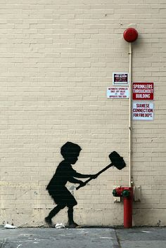 Banksy's art, animated. Love these!