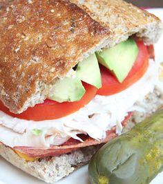 Skinny Turkey Bacon Avocado Sandwich!! Love this full flavor sandwich with avocado and turkey bacon!
