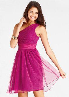 Glitter One-Shoulder Dress