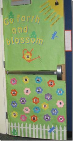Go Forth and Blossom Door Idea (Teacher Appreciation Week)