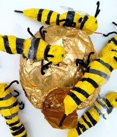 IMG_5835 duct tape, craft, bee tree, img5835, bee unit, insect, thema kriebelbeestj, kid, honey bee