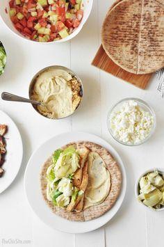 pita bread & hummus mediterranean tacos