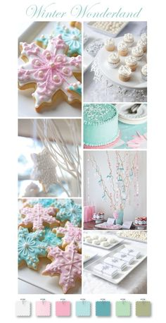 Winter Wonderland theme, Love the colors, add some pastel purple maybe?