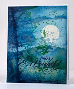 stamp, soft whisper, heather card, color, blue, branch, penny black, penni black, heather telford
