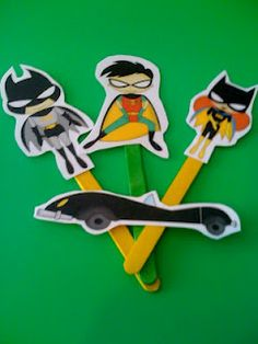 Free batman stick printables