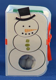 Tic Tac Holder with Stylin' Snowfolk