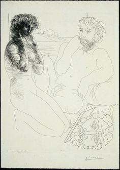 models, de art, son modèl, portrait sculpteur, mirror 1933, sculptor, art en, print, pablo picasso
