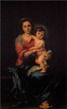 Virgin with Child - Bartolome Esteban Murillo. I really love this portrait.