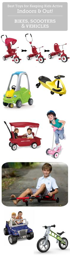 Best bikes, trikes, scooters and more to get kids moving outside.