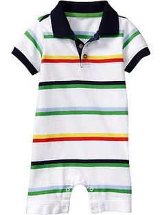 striped polo romper - Old Navy