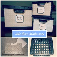 Knock-it-Off Crafts: File Box Makeover - Craft Supply Storage on the cheap.. and pretty!