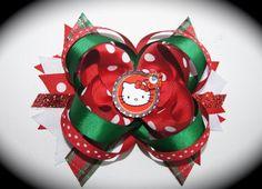Hello Kitty Christmas Bow