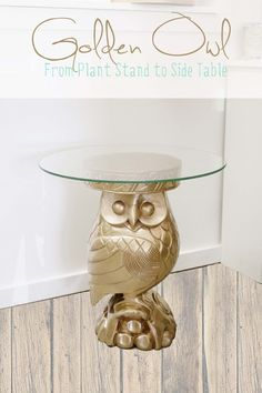 Plant Stand into Owl