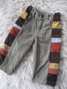 recycled kids clothing tutorial pdf - patch pants. via Etsy.
