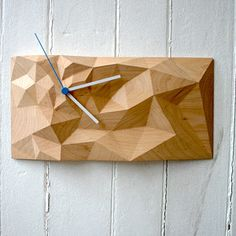 Fab.com | Carved Wood Block Clocks