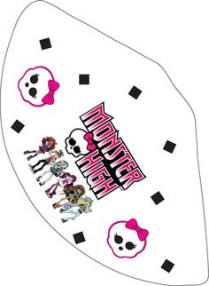 MH Party Hat, Monster High, Party Hats - Free Printable Ideas from Family Shoppingbag.com