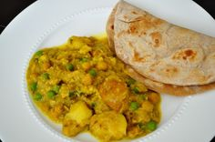 Spiced Potatoes and Chickpea Roti
