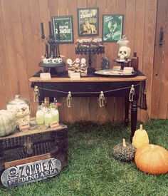 an old school glamourous take on Halloween. via hostess with the mostess - vintage zombie party