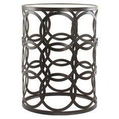 'Circles' Metal Barrel End Table- living room?