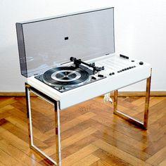 1970s Vintage WEGA 3207 HI-FI DUAL DESIGN TURNTABLE RECORD PLAYER COLANI PANTON