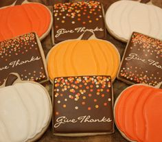 Thanksgiving cookies. LOVE the dots!