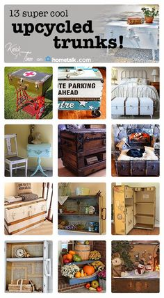 13 Upcycled Trunk Projects! ~via Knick of Time