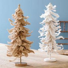 Frayed Burlap Trees | Ballard Designs
