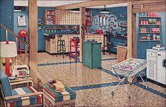1948 Vintage Basement Workshop & Laundry Room