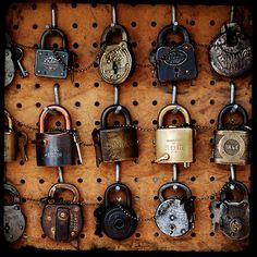 Lock collection. Photo by Robert Baker.