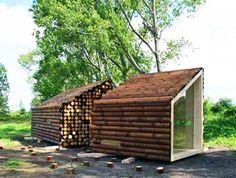 OLGGA's Portable Log Cabin Conceals a Sleek Modern Interior | Inhabitat - Sustainable Design Innovation, Eco Architecture, Green Building