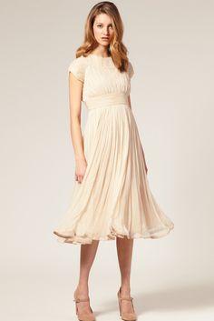 Ruched chiffon dress