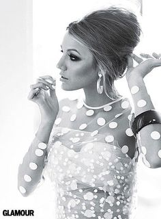 Blake Lively icon, fashion, stella mccartney, polka dots, girl crushes, blake lively, wedding hairs, the dress, hair makeup