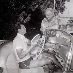 Rock Hudson and Charles Farrell in 1955 Pic by Bob Beerman  Rock Hudson at actor Charles Farrell's The Racquet Club in Palm Springs.
