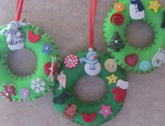 Christmas Felt Wreaths