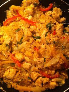 2noblecrows: How to Get a Guy to Eat Quinoa: Most Delicious Chicken Quinoa Recipe-