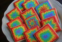 Tie-dye Birthday Cookies