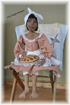 Primitive Black Mammy Art Doll~OOAK~Handmade  (:
