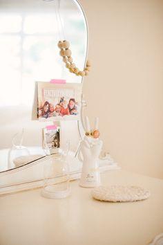 Bedroom vanity | Photography: Yazy Jo - yazyjo.com  Read More: http://www.stylemepretty.com/living/2014/09/22/la-la-lovely-home-tour/
