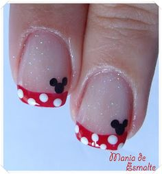 Disney nails: Nail Art Minnie