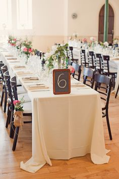 chalkboard table number, Enoch School House Wedding | Rebecca Wood