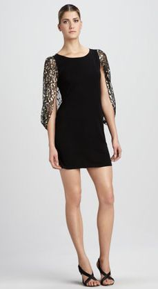 REVEL: Sequin Capelet Dress