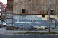 """Banksy """"Better Out Than In"""" Day 27 – 'Blocked Messages'"""